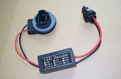 T10 BA9S 1156 BA15S BAU15S 1157 7440 7443 3156 3157 Anti Hyper Flashing Warning Canceller Error Free Wiring Harness LED Decoder