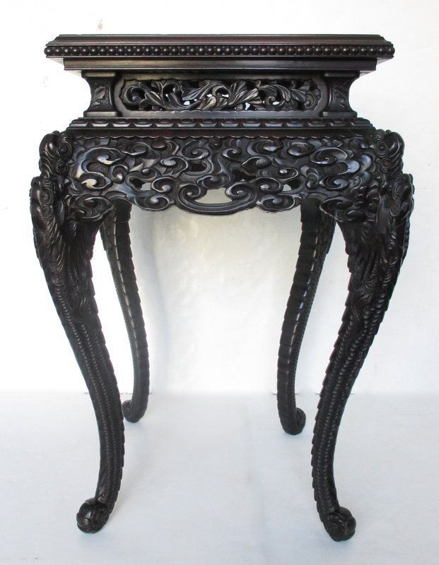Antique Japanese Table with Motifs of Dragons | Japanese ...