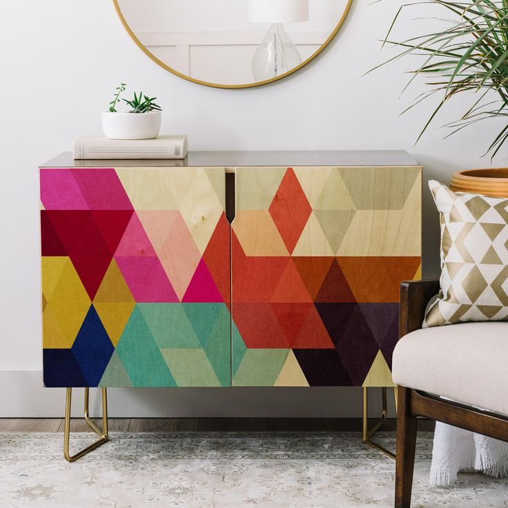 Deny Designs Three Of The Possessed Modele 7 Credenza