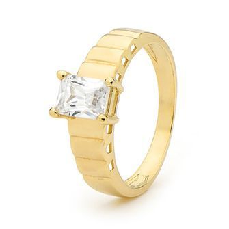 Buy our Australian made Ladies Gold and Zirconia Ring - BEE-25210-CZ online. Explore our range of custom made chain jewellery, rings, pendants, earrings and charms.