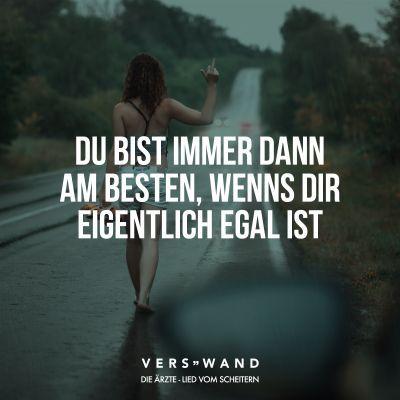 Visual Statements® Die Ärzte – Lied vom Scheitern  Sprüche / Zitate / Quote…