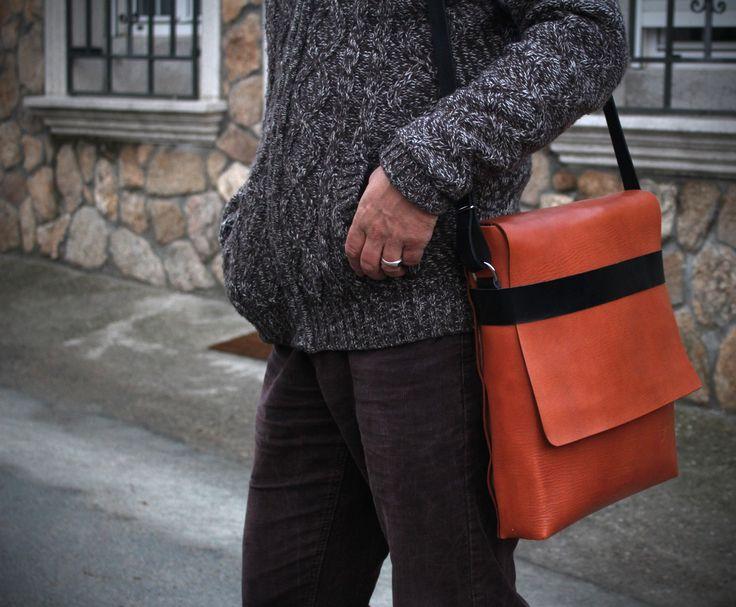 Ludena Mens Messenger Bag - Messenger bag for men - Mens bag - Laptop bag