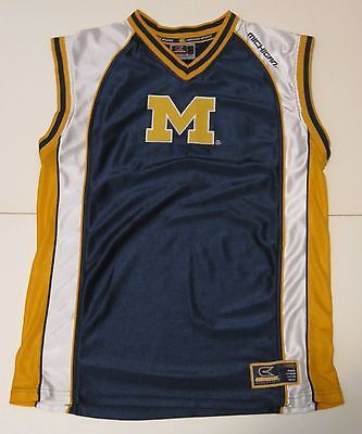 L Youth Colosseum Athletics Michigan Wolverines NCAA Basketball Jersey Blue Sewn