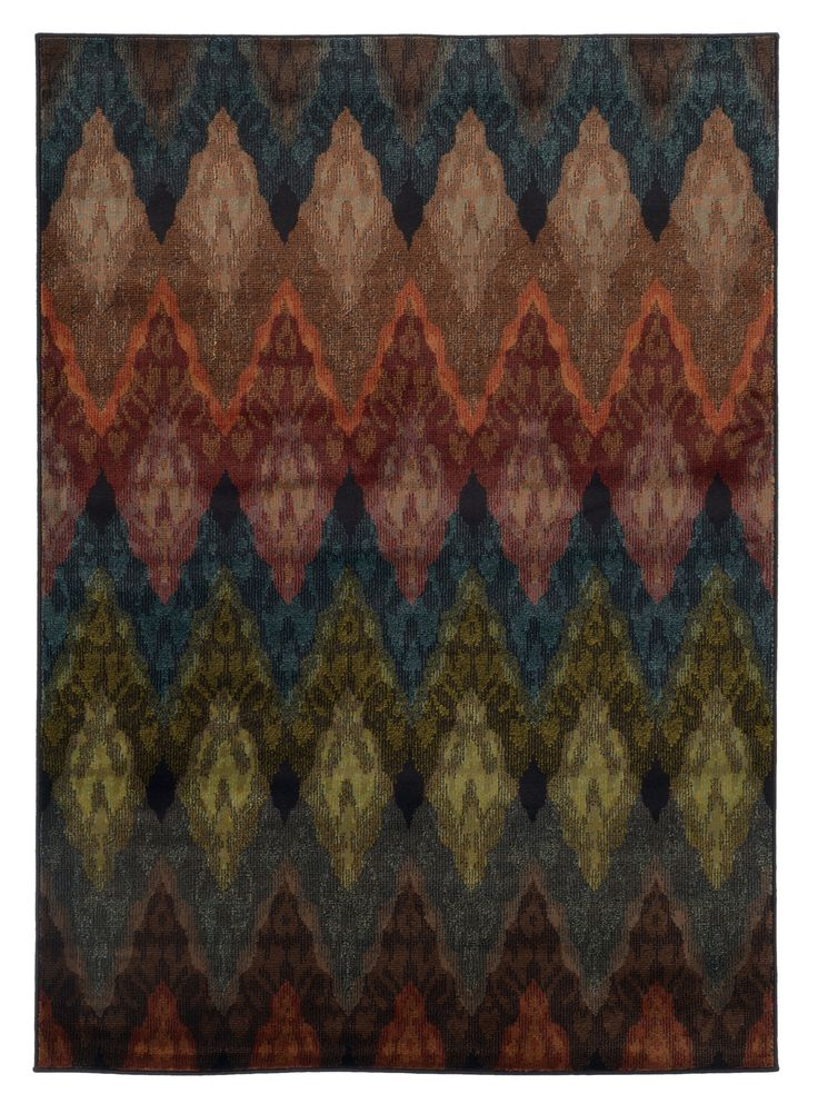 Multi Color Wavy Pattern Area Rug Woodwaves Rugs