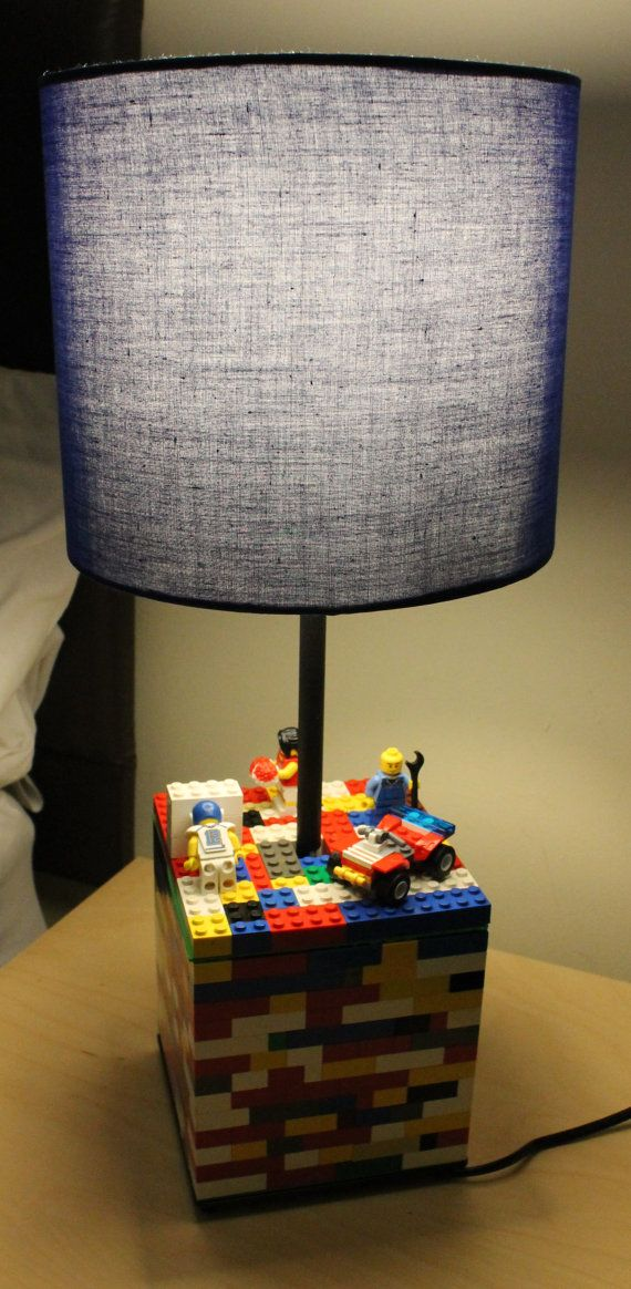 Lego lamp, doing this around an existing lamp would be very easy.