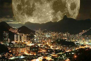 Last night supermoon over Rio.