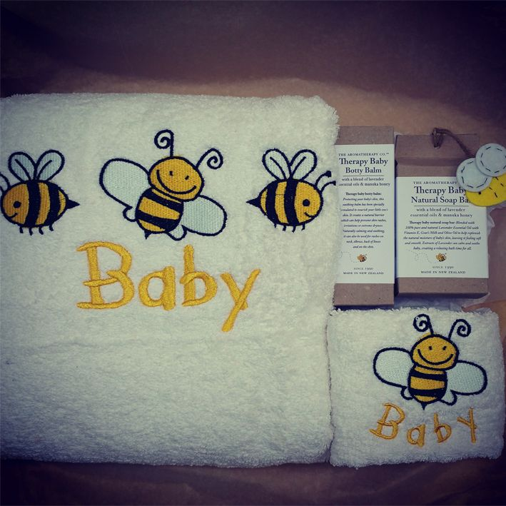 Our gorgeous bumble bee design which is usually personalised with the child's name made a gorgeous hamper for baby shower.