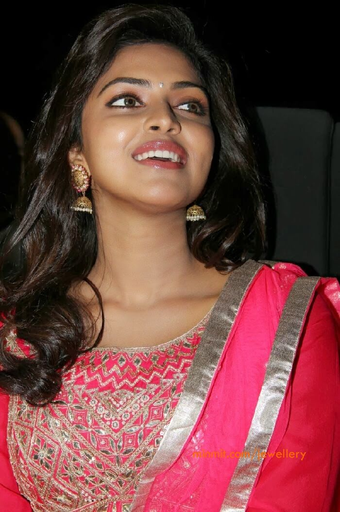 Actress-Amala-Paul-wearing-heavy-jhumkas