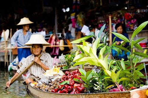 colorful floating markets