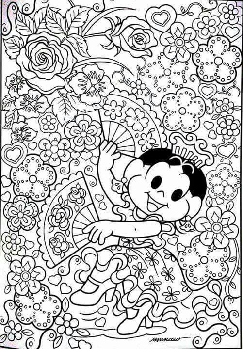 Magali Coloring For KidsFree ColoringColoring BooksHannah LynnAnti StressDoodle