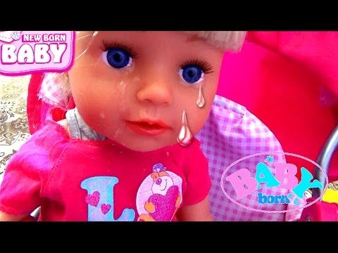 Капризный малыш плачет Кукла Беби Бон в коляске мультики с ...