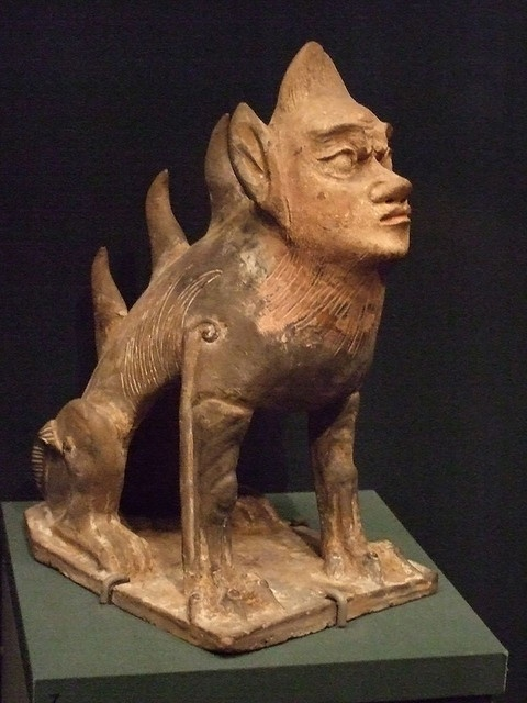 Spirit Guardian Tang Dynasty China Earthenware 2 by mharrsch, via Flickr