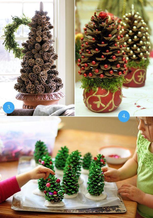 Wnętrza: 10 pomysłów na świąteczne dekoracje z szyszek | Sen Mai - techniki DIY, wnętrza, uroda, wyzwanie foto