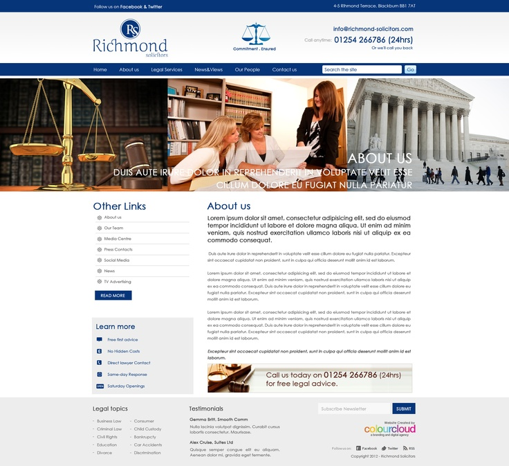 Website designed for Richmond Solicitor in UK