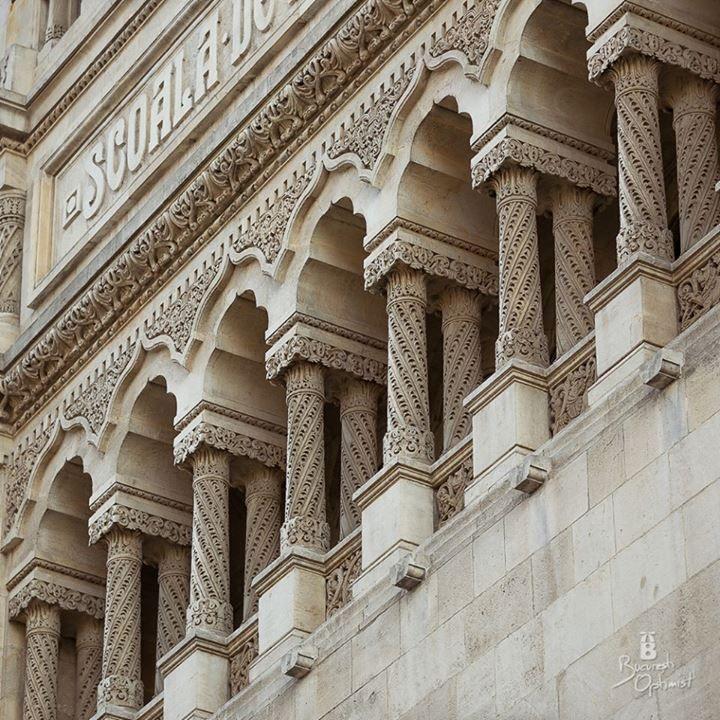 neo romanian architectural style, teh University of Architecture, Bucharest https://www.facebook.com/BucurestiOptimist