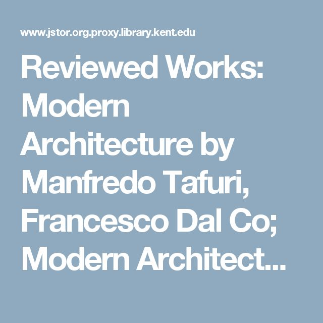 Modern Architecture A Critical History 41 mejores imágenes sobre theories of architecture_manfredo tafuri