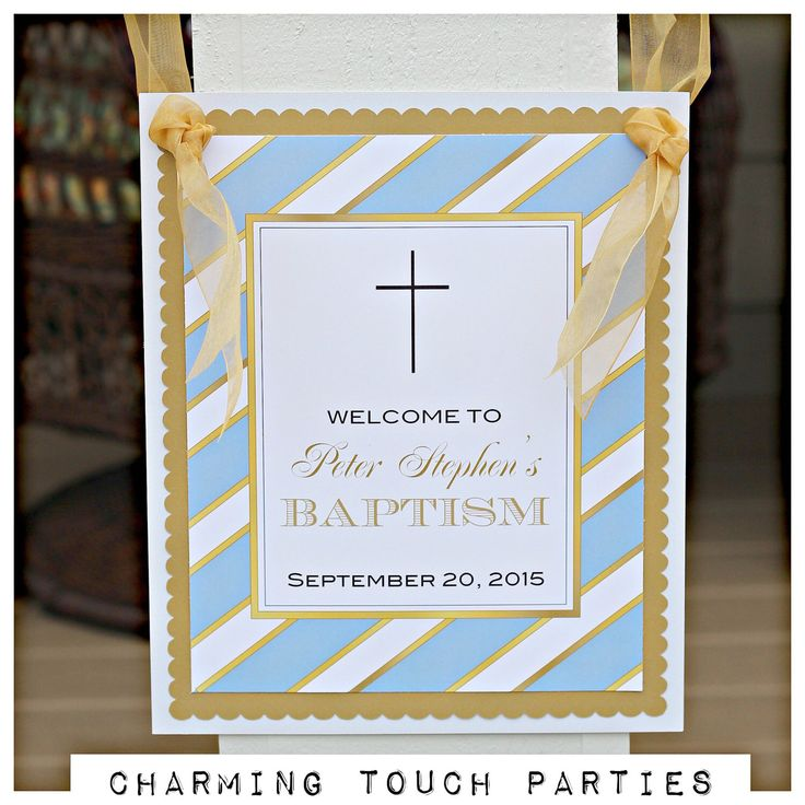 Baptism / First Communion/ decor.  Religious welcome door hanger sign by Charming Touch Parties.  Fully assembled and customizable. by CharmingTouchParties on Etsy https://www.etsy.com/listing/245902138/baptism-first-communion-decor-religious