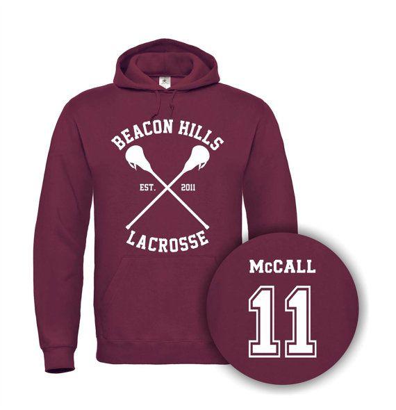 Beacon Hills Lacrosse Teen Wolf McCall 11 Mens Womens unisexe à capuche