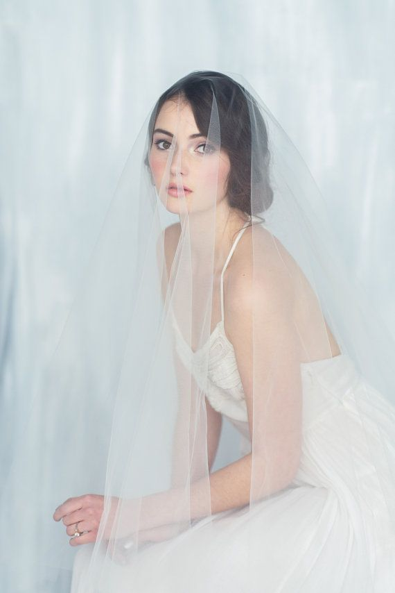 Italian Tulle Drop Cathedral Veil - DAUPHINE