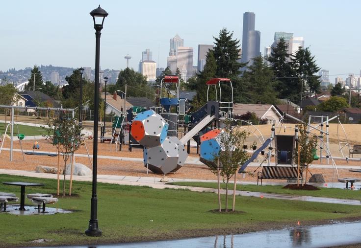 Kompan Playgrounds - Combination of Bloqx, Swings, Edge and Galaxy