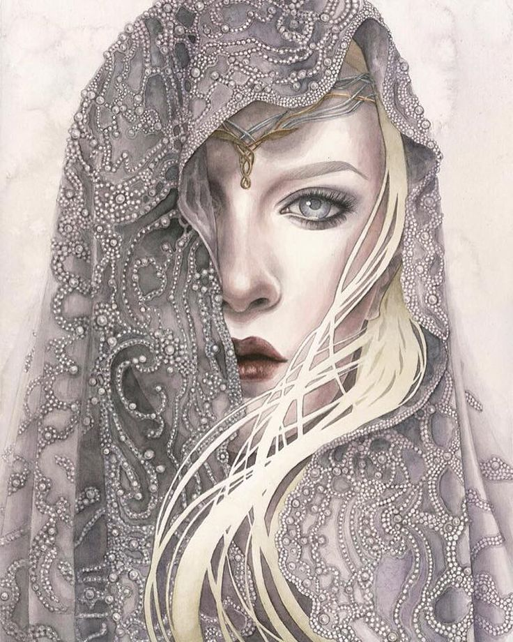 Galadriel - Lady of Light by Kelly McKernan                                                                                                                                                                                 More