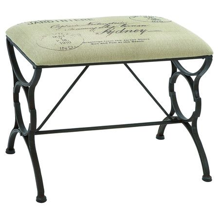 Found it at Wayfair - Paris Postcard Metal Bench in Black / could possibly do this with old sewing machine legs?