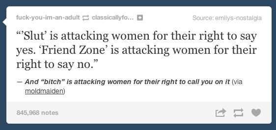 On the things we call women when they speak: