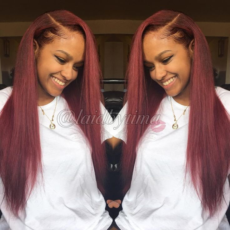 ✨ Gotta love what you see? Like it ❤️, Pin it , and check out my page @Flowerjalo  ♡, Follow Me ✔️ for daily updates on boards, or Follow A Board, thanks Hun ✨ Pink hair weave Red hair weave