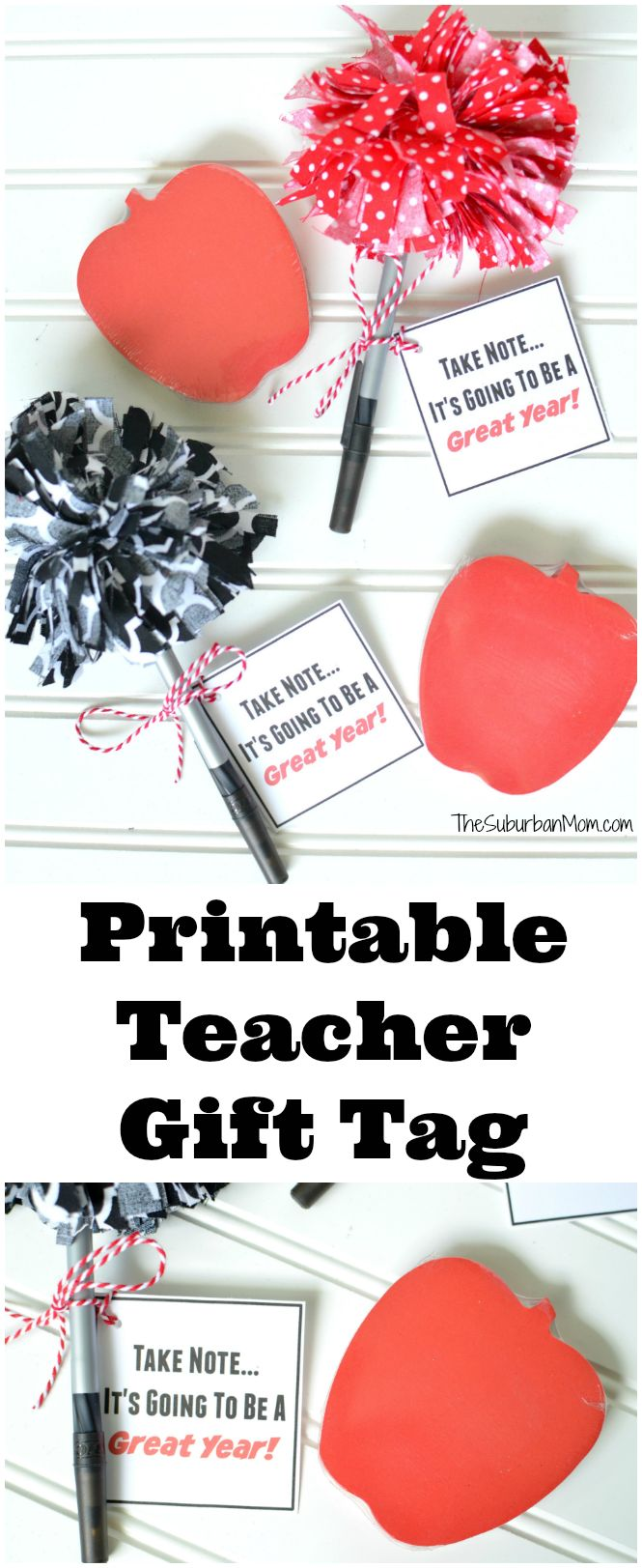 Back To School FREE Printable Teacher Gift Tag and Gift Idea