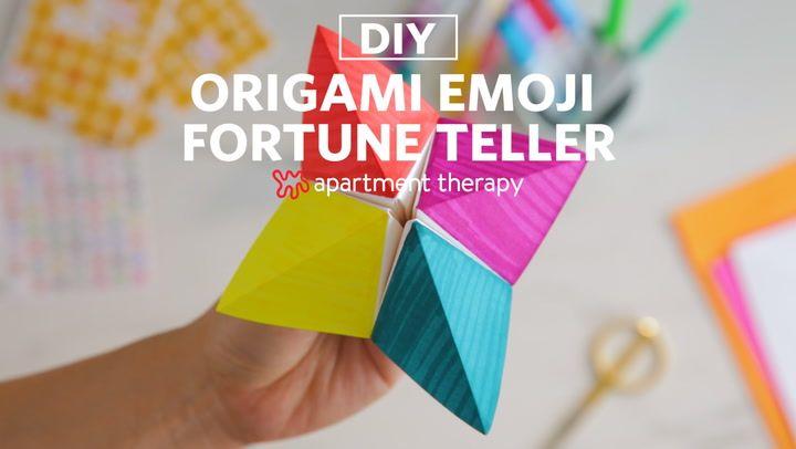 DIY Origami Emoji Fortune Teller