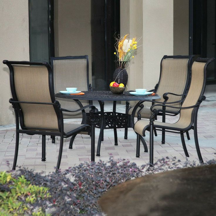 Shop Darlee 5Piece SlingSeat Aluminum Patio Dining Set