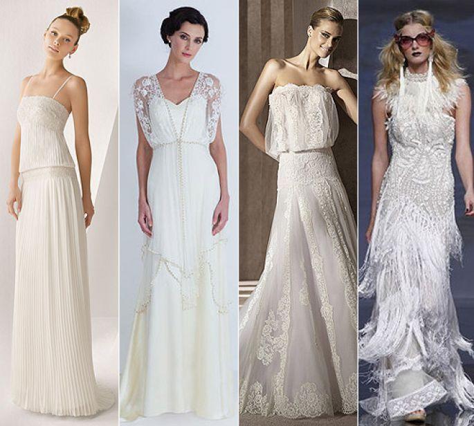 Robes de mariées style années 20, Rosa Clará, Catherine Deane, Manuel Mota et YolanCris