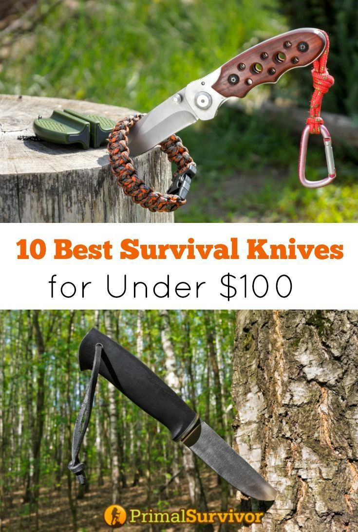 10 Best Survival Knives for Under $100. The single most important piece of survival gear is arguably your survival knife.  Aside from the obvious uses of a survival knife like self-defense, there are countless ways you can use it for your survival: Batoning wood, Making cordage, Digging holes, Skinning animals.