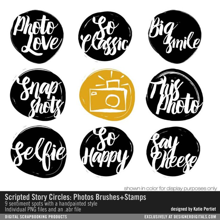 Scripted Story Circles: Photos Brushes and Stamps- Katie Pertiet Brushes- DS539089- DesignerDigitals