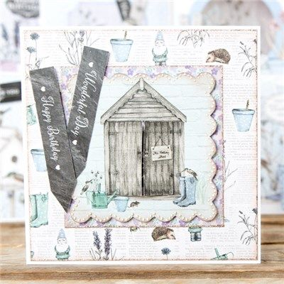 Craftwork Cards Create with Paper Magazine Issue 2 with Potting Shed II Collection and Co-ordinating Cardstock