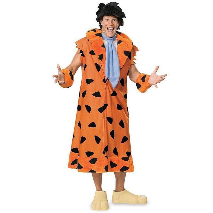 Plus Size Flintstones Fred Flintstone Costume - Adult Plus, Orange