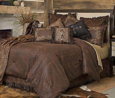 Western Bedding Set Bed Comforter Twin Queen King Rustic Cabin Lodge Brown New in Home & Garden, Bedding, Comforters & Sets   eBay