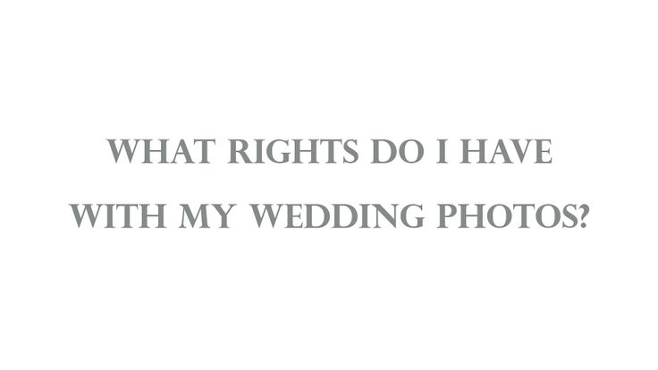 General info on a typical wedding photography contract.