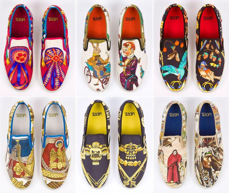 If you mix Hermés scarves with Vans you get such a cool and classy shoes! Si mezclas estampados de Hermés con las zapatillas Vans, este es el resultado cool y con clase #coolhunting #DIY ideas