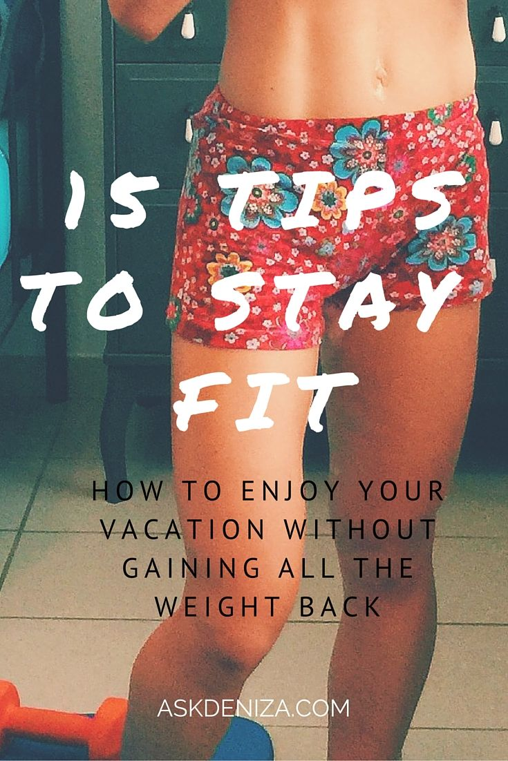 Fitness and Nutrition tips to stay healthy on the go! Don't stress if you are going on vacation and can't find a gym.