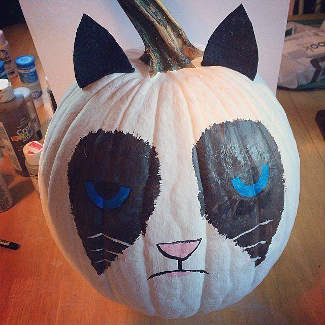 Ways To Paint A Pumpkin: Cats, Carving And Pumpkin Ideas On Pinterest