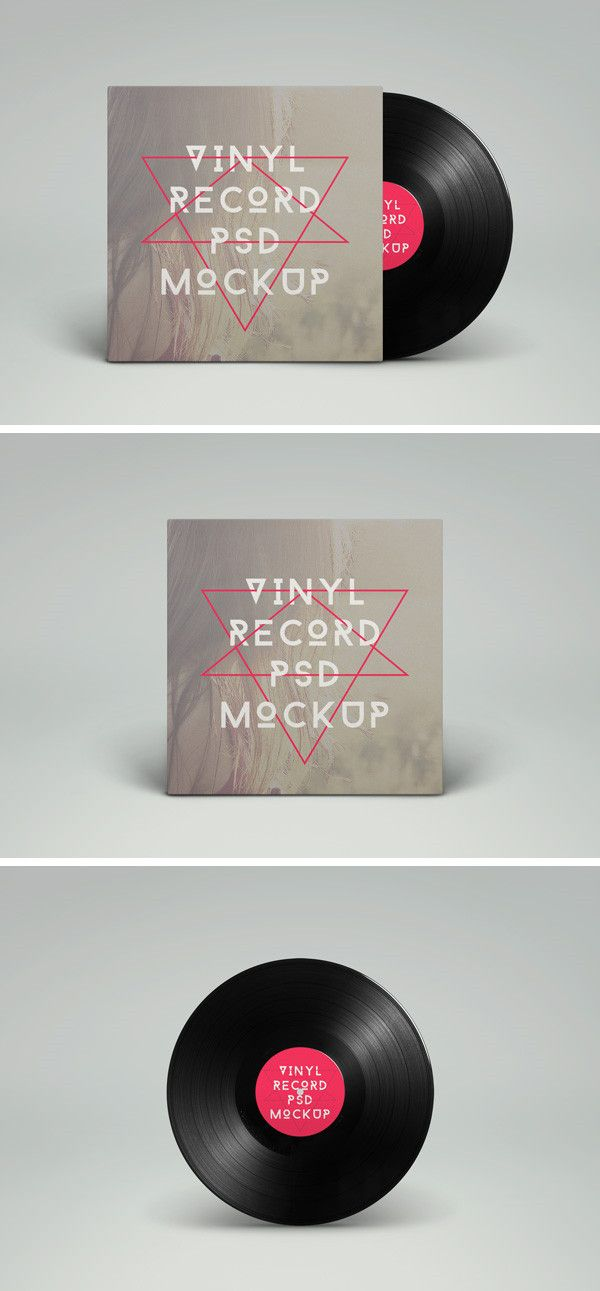 #Vinyl #Record #PSD #MockUp | GraphicBurger