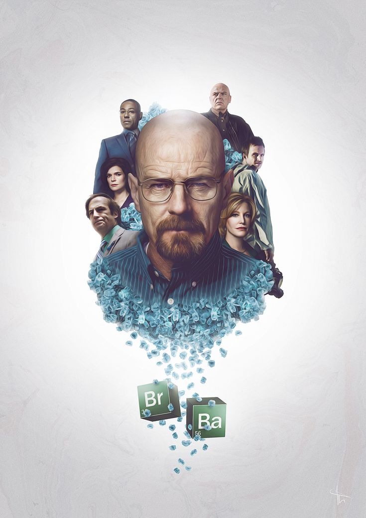 Breaking Bad poster by Fabien Mathe (aka WARENDT) in Toulouse, France