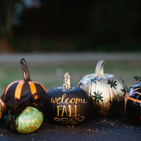 Throwing a No-Carve Pumpkin Decorating Party plus 5 ideas for no-carve decorating. Supplies included.