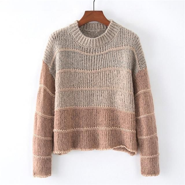 OMCHION Chaqueta Mujer 2018 Autumn Winter Gradient Mohair Sweater Women  Casual Loose Korean Warm Pullover Knitwear Jumpers LMM14 51db143cb