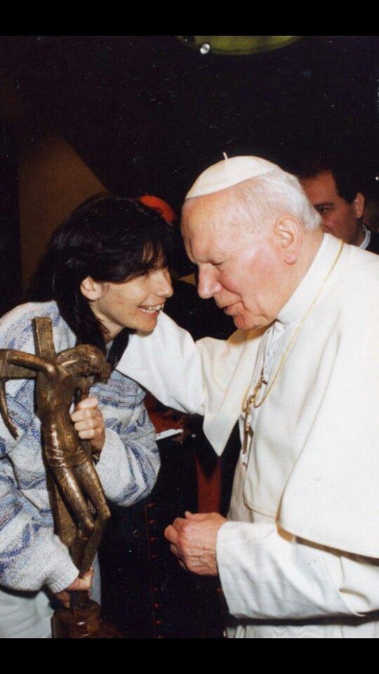 Chiara con il Papa