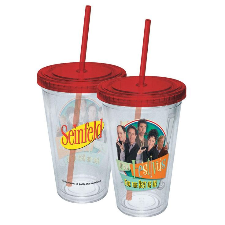 Seinfeld - Festivus For The Rest Of Us Acrylic Tumbler With Straw