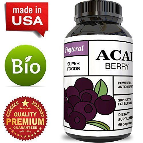 Acai Berry - Detox Cleanse - Antioxidant + Weight Loss Supplement - Immune System Booster - Promotes Digestion & Cardiovascular Health - Superfood + Vitamins - All Natural Pills - Made by Phytoral - This Acai Berry is a tiny SUPERFOOD that provides the body with key nutrients such as Antioxidants which we all know by now is very important to our health. This Berry also has a high amount of fiber which promotes healthy digestion for the body. These are so many benefits that come from this…