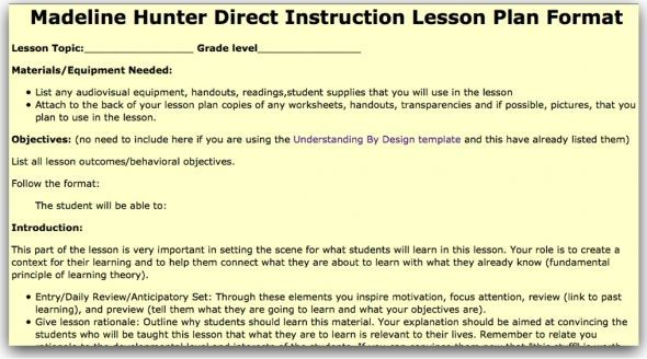 10 Best Madeline Hunter Lesson Plans Images On Pinterest Lesson