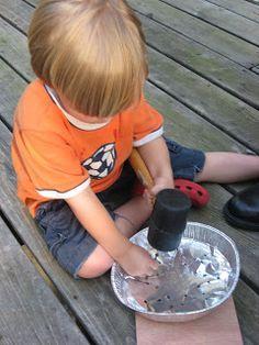 Pioneer activities for kids - tin punch art